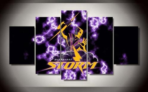 5 Panel Melbourne Storm Canvas Wall Art | Welcome To Canvas Print In Melbourne Canvas Wall Art (Photo 10 of 20)