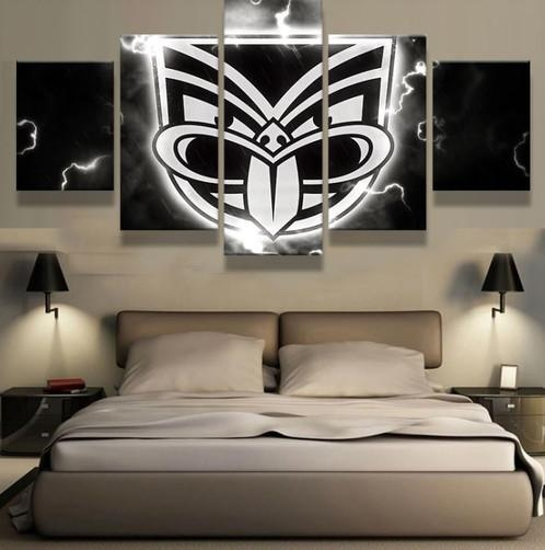 5 Panel New Zealand Warriors Canvas Wall Art | Welcome To Canvas Regarding New Zealand Canvas Wall Art (Image 6 of 20)