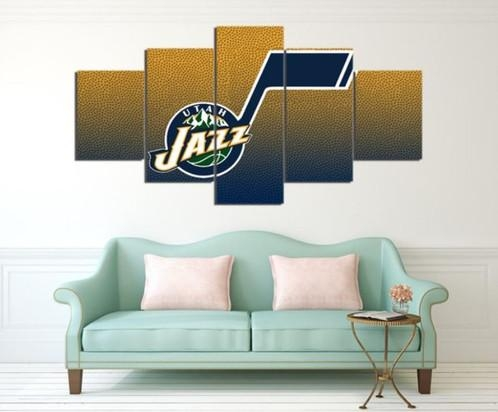 5 Panel Utah Jazz Canvas Wall Art | Welcome To Canvas Print Creations Pertaining To Jazz Canvas Wall Art (Photo 19 of 20)