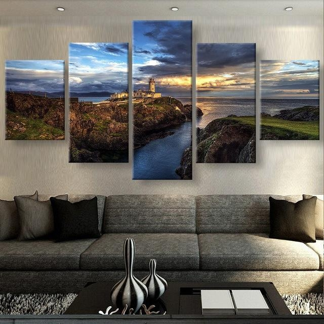 5 Panels Canvas Prints Views Of Ireland Canvas Painting Poster Regarding Ireland Canvas Wall Art (Photo 1 of 20)