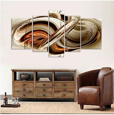 5 Pcs Large Hd Canvas Art Print Abstract Syrup Modern Canvas Wall Regarding Abstract Wall Art Living Room (Image 3 of 20)