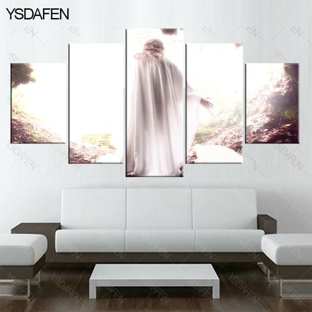 5 Piece Canvas Art Christian Jesus Resurrected Painting Hd Canvas Throughout Jesus Canvas Wall Art (Image 6 of 20)