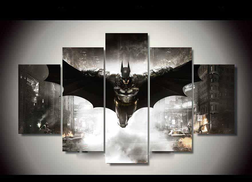 5 Piece Canvas Hd Batman Home Decor Dc World Shop Http With Movies Canvas Wall Art (Image 5 of 20)