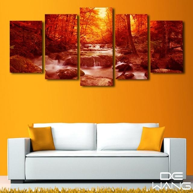 5 Piece Canvas Print Painting Modern Wall Art Home Decor Living For Nottingham Canvas Wall Art (View 15 of 20)