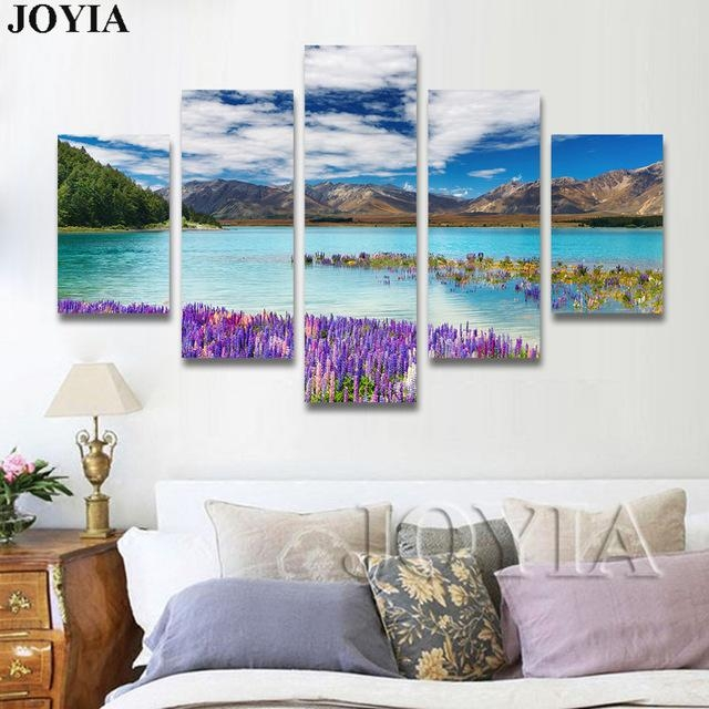 5 Piece Canvas Wall Art, Nature Scene Photograph Canvas Prints Throughout New Zealand Canvas Wall Art (Image 7 of 20)