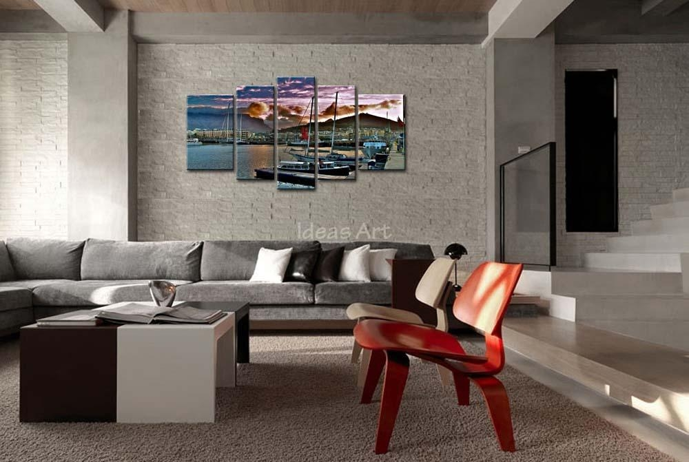 5 Piece Wall Art Painting City Capetown South Africa Wharf Ships Pertaining To Cape Town Canvas Wall Art (Photo 15 of 20)