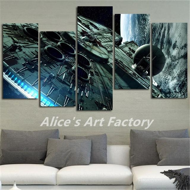 5Piece Canvas Print Painting Home Decoration Wall Art Millennium With Regard To Movies Canvas Wall Art (Image 7 of 20)