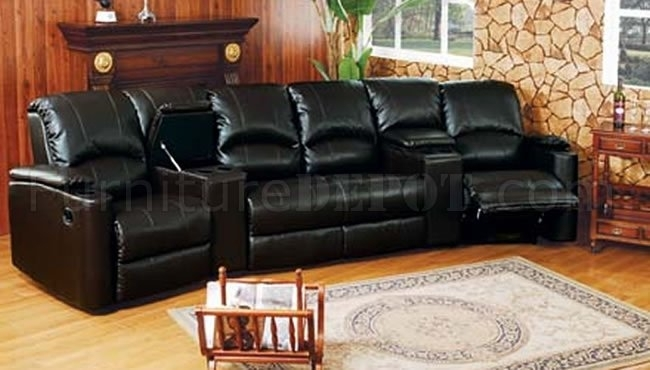 6 5040 Home Theater Leather Sectional Sofaacme Pertaining To Theatre Sectional Sofas (Photo 5 of 10)