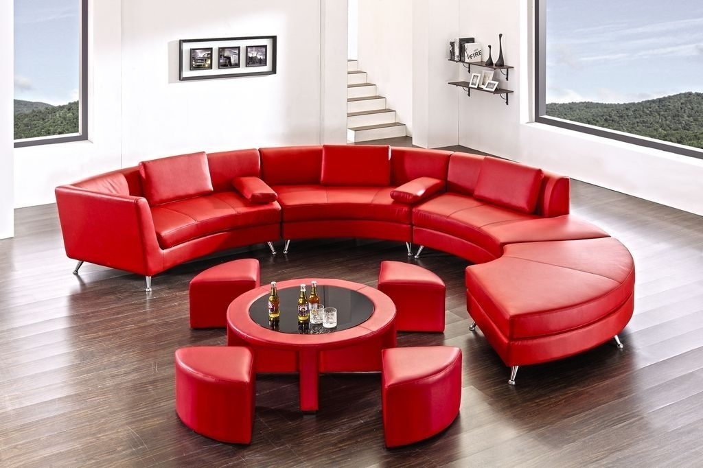 6 Sofa Sectional Sofa Red Sectional Sofa Comfortable Sofa Trendy With Regard To Red Leather Sectional Couches (Image 1 of 10)