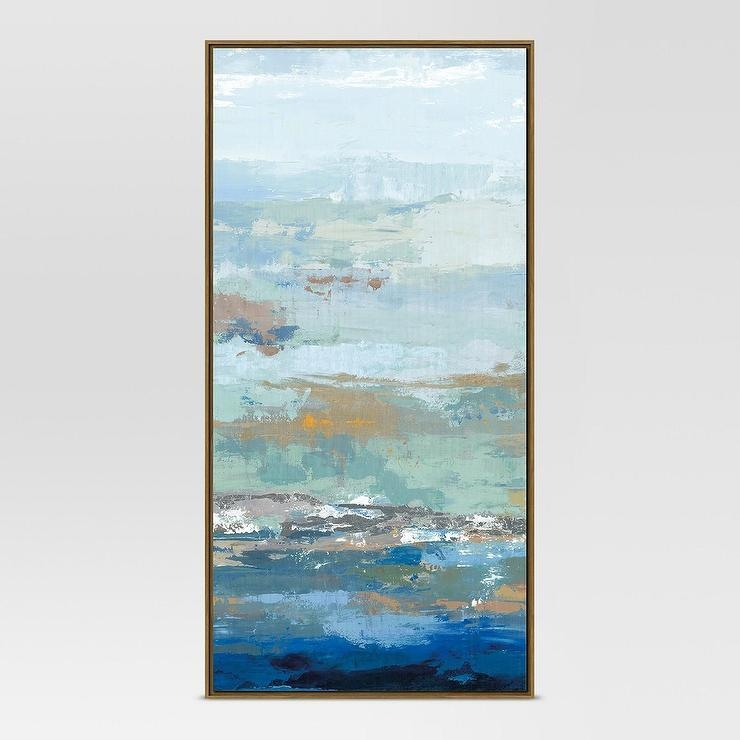 62 Blue Embellished Abstract Wall Art With Regard To Embellished Canvas Wall Art (Image 4 of 20)