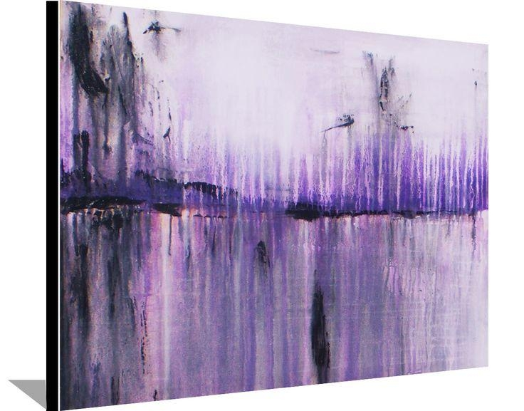 63 Best Abstract Art Images On Pinterest | Painting Abstract Pertaining To Purple And Grey Abstract Wall Art (Photo 9 of 20)