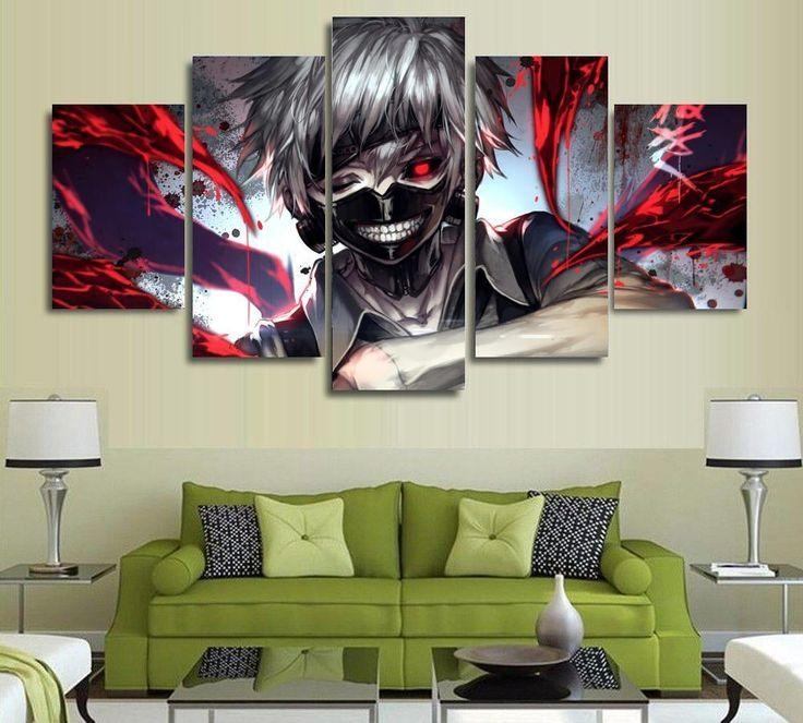 67 Best Anime Art Images On Pinterest | Canvas Paintings, Painted For Anime Canvas Wall Art (Image 9 of 20)