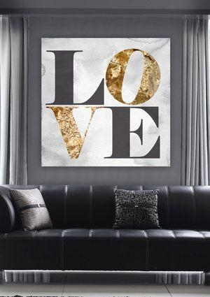 71 Best Gold Images On Pinterest | Oliver Gal Art, Canvas Art And Intended For Love Canvas Wall Art (Image 2 of 20)