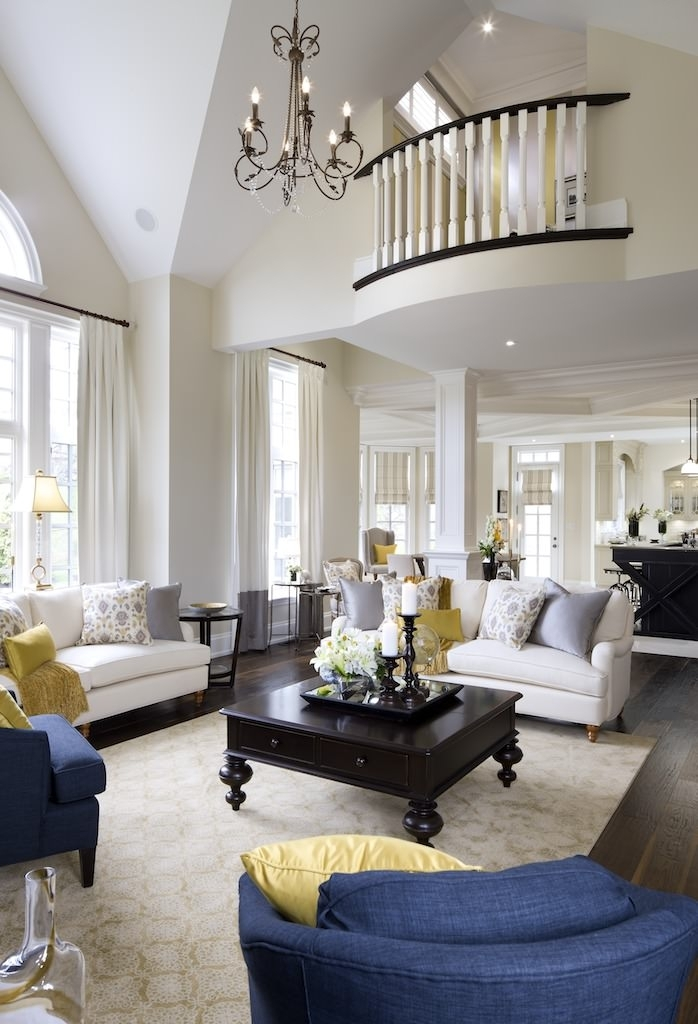 72 Living Rooms With White Furniture (Sofas And Chairs) Intended For White Sofa Chairs (Photo 9 of 10)