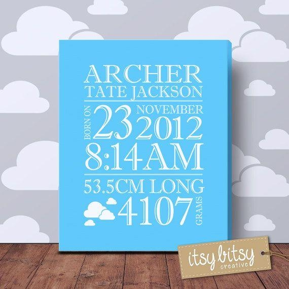 73 Best Birth Prints Images On Pinterest | Baby Birth, Baby For Baby Names Canvas Wall Art (Photo 2 of 20)