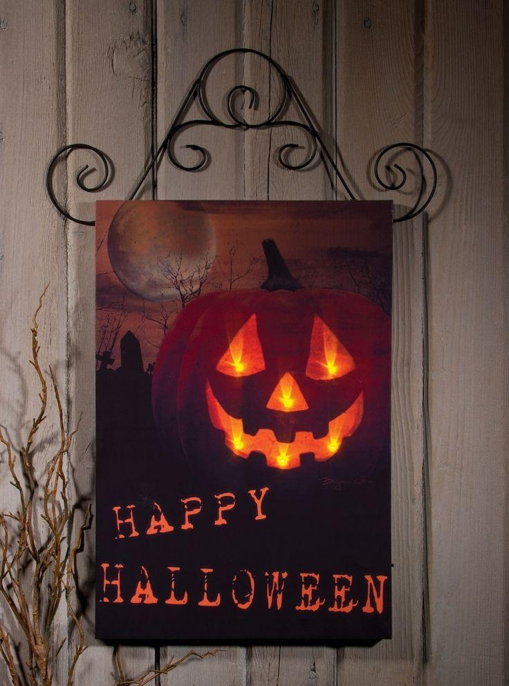 75 Best Lighted Canvas Images On Pinterest | Light Up Canvas Pertaining To Halloween Led Canvas Wall Art (Photo 12 of 20)