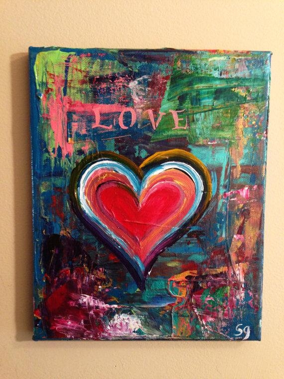 8 X 10 Abstract Heart Paintingsam Glenn | Valentines Day Art Throughout Abstract Heart Wall Art (Photo 7 of 20)