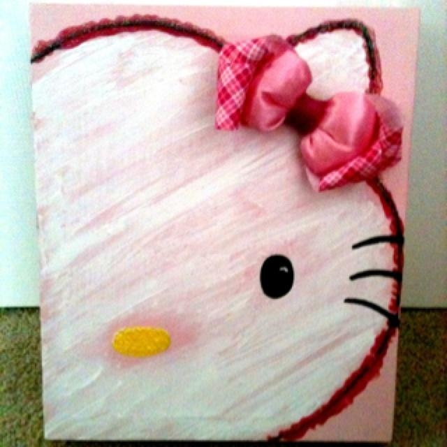 87 Best Canvas Art – Kids Images On Pinterest | Painted Canvas In Hello Kitty Canvas Wall Art (View 8 of 20)