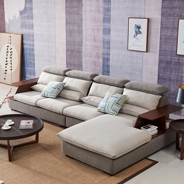 8812 Fabric Sofa Set Living Room Sofa Furniture Corner Sofa Sets Pertaining To Home Furniture Sectional Sofas (Image 1 of 10)