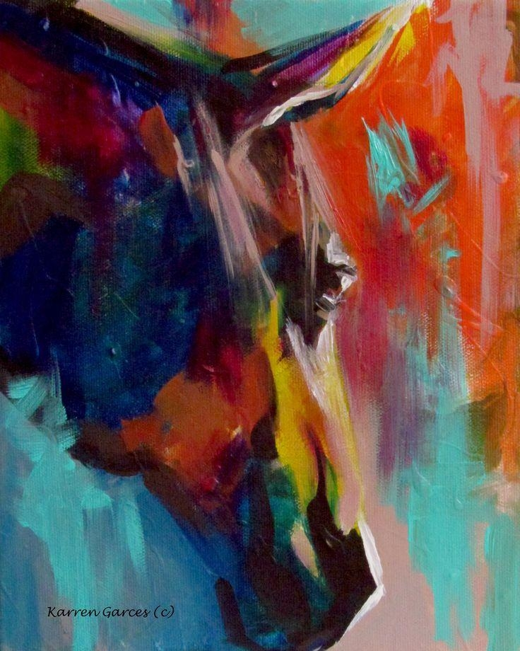 """8X10 """"graffiti This"""" Acrylic Horse Wall Art In A Contemporary Regarding Abstract Horse Wall Art (View 16 of 20)"""