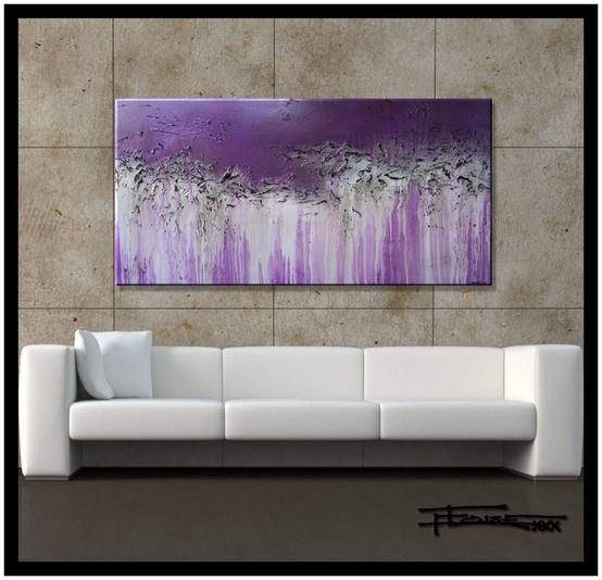 90 Best Colors Grey (Gray) + Plum, Lavender, Eggplant & Hits Of Regarding Purple And Grey Abstract Wall Art (Photo 11 of 20)