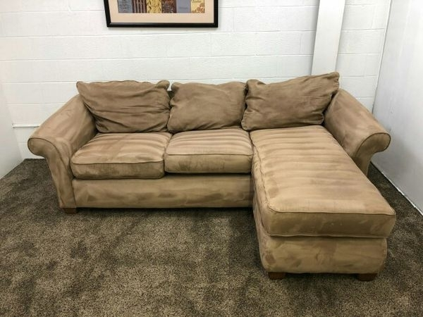 905  $100 Down  Light Brown Microfiber Sectional Sofa (Furniture) In With Eugene Oregon Sectional Sofas (Image 1 of 10)