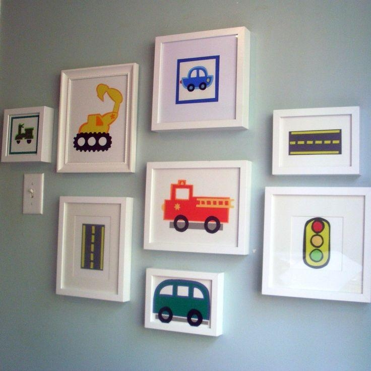 91 Best Cars Images On Pinterest | Child Room, For Kids And Regarding Cars Theme Canvas Wall Art (Image 4 of 20)
