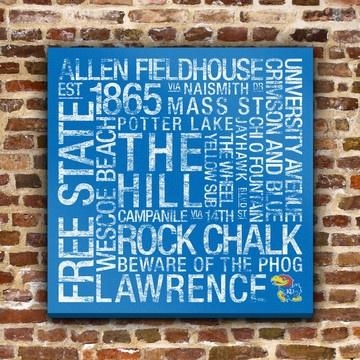 95 Best Ku Jayhawks Images On Pinterest | Kansas Jayhawks, Canvas With Ku Canvas Wall Art (Image 4 of 20)