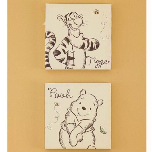A Bear Named Pooh Canvas Wall Art 2 Piecekids Line. $6. (Image 2 of 20)