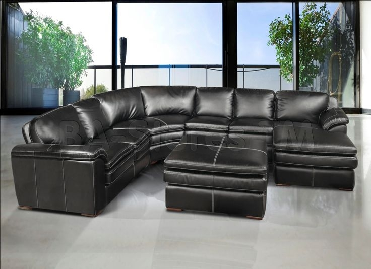 A Complete Buying Guide For Purchasing Black Leather Sectional With Regard To Black Leather Sectionals With Ottoman (Image 2 of 10)