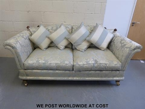 A David Gundry Three Piece Suite Consisting Of A Florence Medium For Florence Medium Sofas (Image 2 of 10)