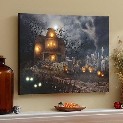 A Haunting Led Canvas Art Print | Holiday Ideas | Pinterest In Halloween Led Canvas Wall Art (Image 8 of 20)