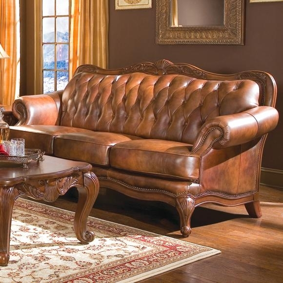A Plus Home Furnishings – Victoria Classic Rolled Arm Sofa In Regarding Victorian Leather Sofas (Image 2 of 10)