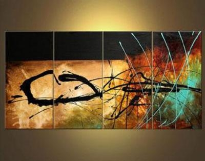 A Signal From Earth Abstract Oil Canvas Painting Wall Art With Intended For Abstract Oil Painting Wall Art (Image 5 of 20)