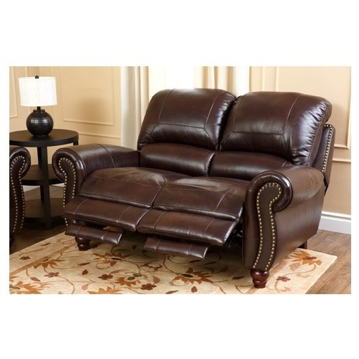 Abbyson Living Ch 8857 Brg 3/2 Canterbury Leather Pushback Reclining Inside Canterbury Leather Sofas (Image 1 of 10)