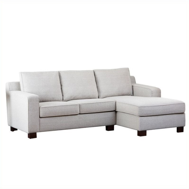 Abbyson Living Regina Fabric Sectional Sofa In Gray – Rl 1321 Gry Pertaining To Regina Sectional Sofas (View 2 of 10)