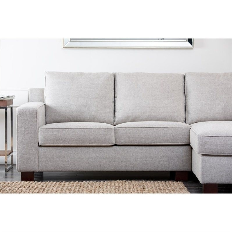 Abbyson Living Regina Fabric Sectional Sofa In Gray – Rl 1321 Gry With Regard To Regina Sectional Sofas (View 3 of 10)