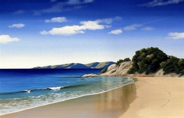 Abel Tasman Canvas Printlinelle Stacey For Sale – New Zealand Throughout New Zealand Canvas Wall Art (Image 9 of 20)