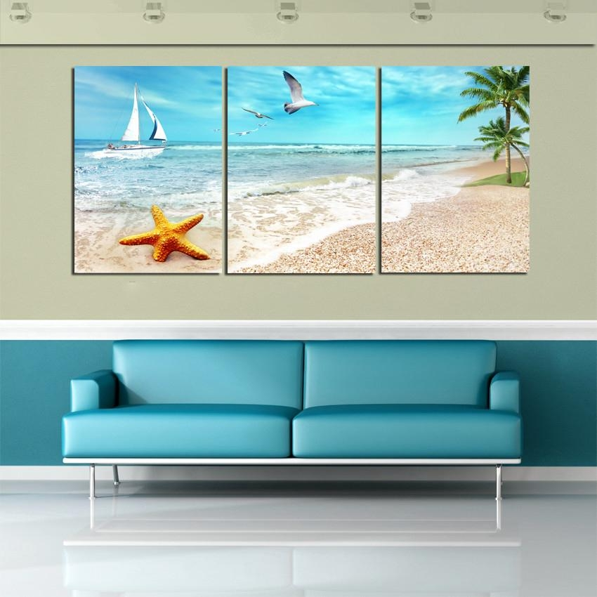 Above Bed | Home Decor | Pinterest | Beach Canvas, Palm Tree With Beach Themed Canvas Wall Art (Image 6 of 20)