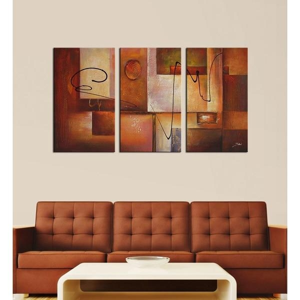 Abstract 11' 3 Piece Canvas Art Set – Free Shipping Today With Overstock Abstract Wall Art (View 2 of 20)