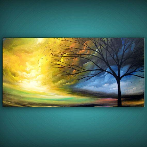 Abstract Art Acrylic Painting Best Selling Item Wall Art Painting Inside Abstract Landscape Wall Art (Image 4 of 20)
