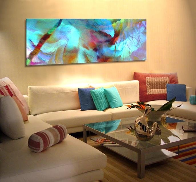 """Abstract Art For Sale Large Canvas Prints Living Room """"secret Garden"""" Inside Living Room Canvas Wall Art (Image 10 of 20)"""