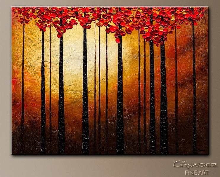 Abstract Art Painting – Into The Light – – Landscape Wall Art With Light Abstract Wall Art (Image 4 of 20)