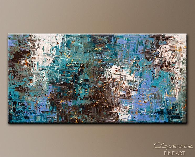 Abstract Art Painting Ocean Paradise – Modern Large Paintings Inside Modern Abstract Huge Wall Art (View 15 of 20)