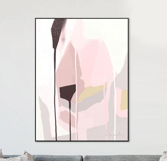 Abstract Art Printable Wall Art Print Blush Grey Art Intended For Printable Abstract Wall Art (View 18 of 20)