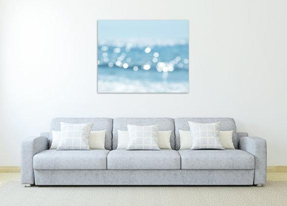 Abstract Beach Photography Canvas Art Nautical Wall Decor Blue Pertaining To Abstract Nautical Wall Art (Image 3 of 20)