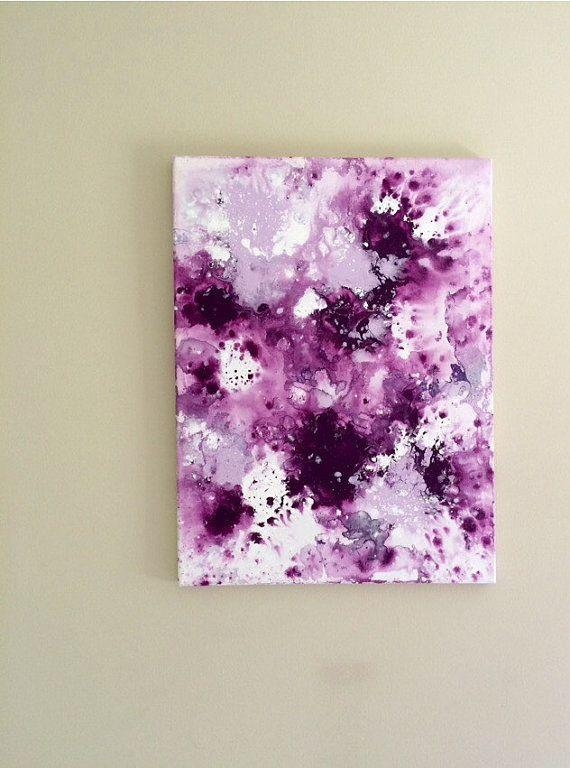 Abstract Flow Art Fluid Painting Purple Lilac Art Original Acrylic Throughout Abstract Neon Wall Art (View 10 of 20)