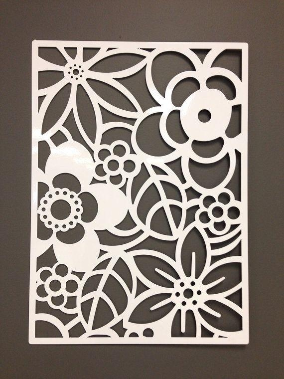 Abstract Flower Metal Wall Or Garden Art Panel 24"