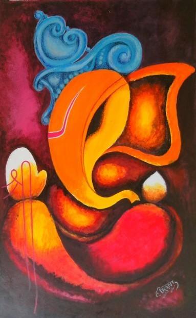 Abstract Ganesha | Art | Pinterest | Ganesha, Ganesh And Paintings Throughout Abstract Ganesha Wall Art (View 15 of 20)