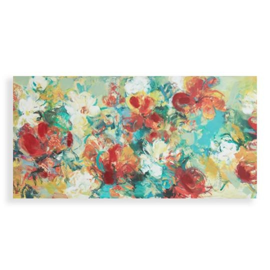 Abstract Garden Wall Art Social Canvas World Market Contemporary In Abstract Garden Wall Art (Image 5 of 20)